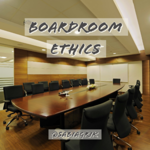 Boardroom Ethics